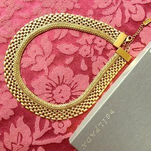"Silpada ""Good as Gold"" brass necklace"